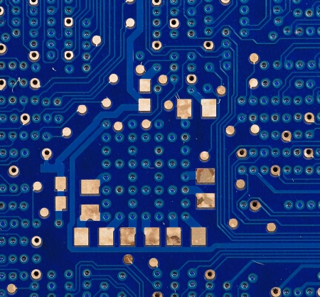 Back view of a DDR memory module. Whole background. Stock Photo