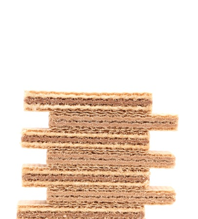 stake: Stake of waffers. Isolated on a white background