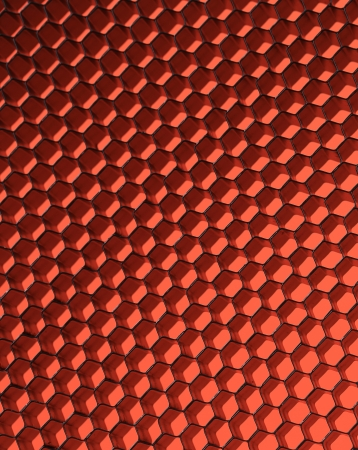 Close up of black net. Red light. Whole background. photo