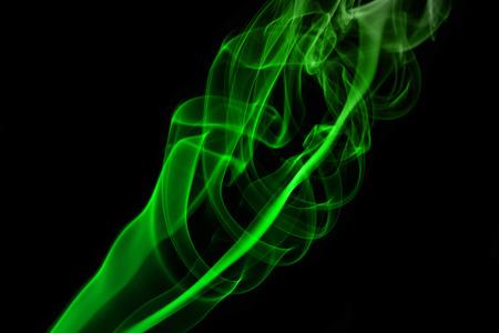 Mistery green beautiful smoke. Close up. photo