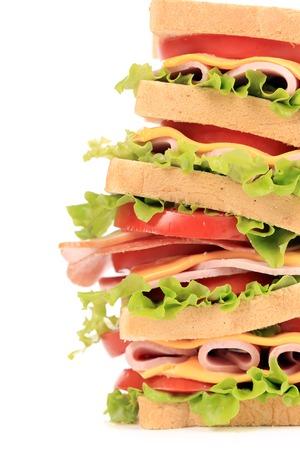Fresh toast sandwich. Close up. Whole background. photo