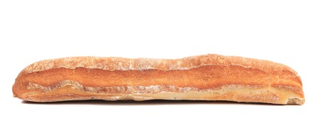 crackling: Crackling white bread. Isolated on a white background.