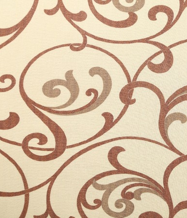 Beige texture with ornament. Close up. Whole background.