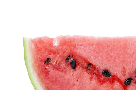 Half of watermelon slice. Macro. Whole background. photo