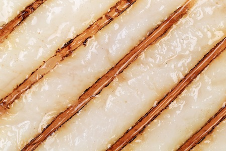 Close up of grilled pangasius fillet texture. photo