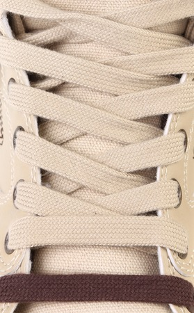 background shoelaces on boot photo