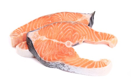 red fish: raw red fish isolated on a white background