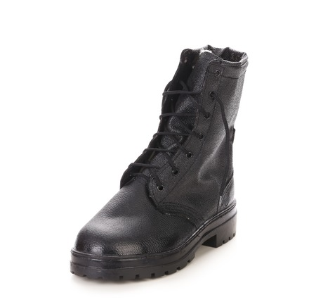 black boot men on a white background photo