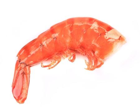Shrimp close up on white. Isolated on a white background. photo