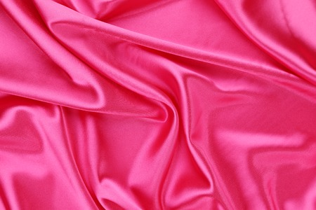 Pink silk. Texture. Close up.  photo