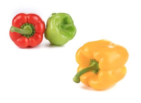 pimiento: Sweet colorful peppers. Isolated on a white background.