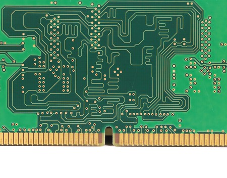 Motherboard. Isolated on a white background.