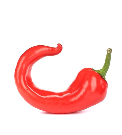 hot red pepper. isolated on a white background photo