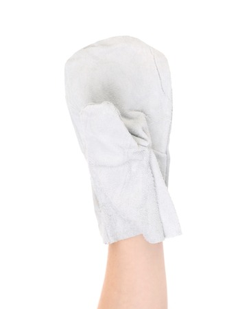 White work glove. Isolated on a white background. photo