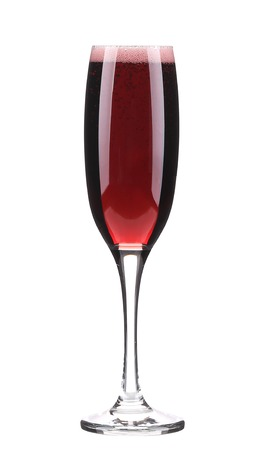 Red wine glass. Isolated on a white background. photo
