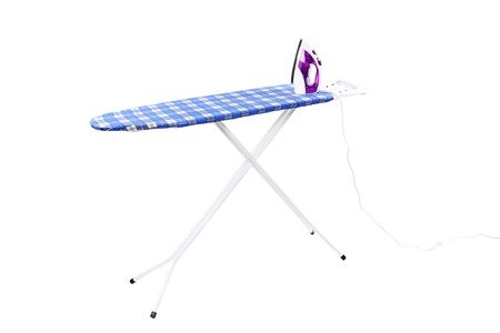 Ironing board. Isolated on a white background. photo