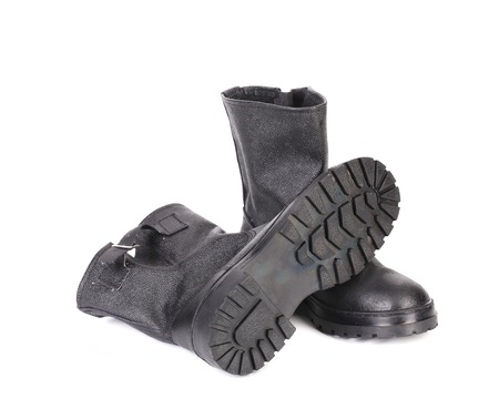 Rubber overshoes. Isolated on a white background. photo
