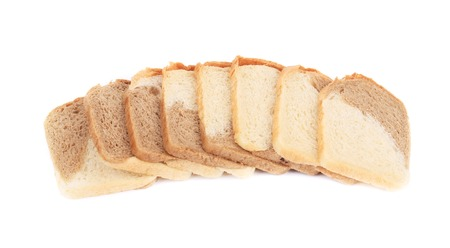 Tasty sliced bread. Isolated on a white background. photo