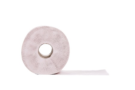 Simple toilet paper. Isolated on a white background. photo