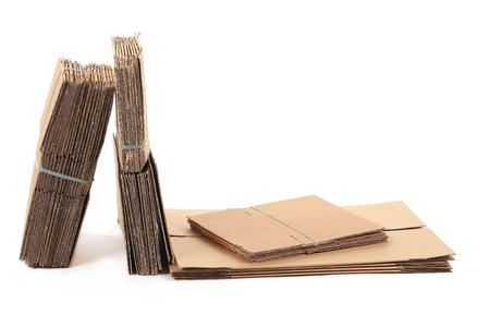 paczkowane: Packaged cardboard. Isolated on a white background.