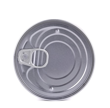 Tin lid. Isolated on a white background. photo