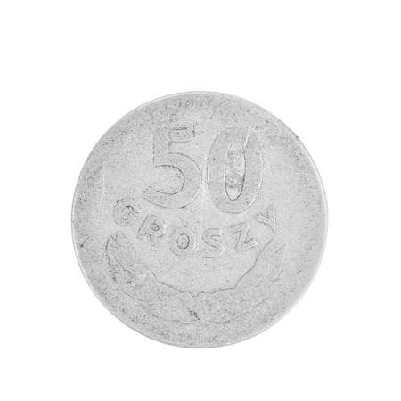 deutschemarks: Coin of German Democratic Republic. Isolated on a white background.