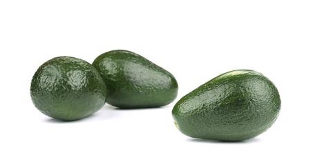 Three avocado. Isolated on a white background. photo