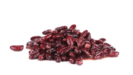 Tasty red beans. Isolated on a white background. photo
