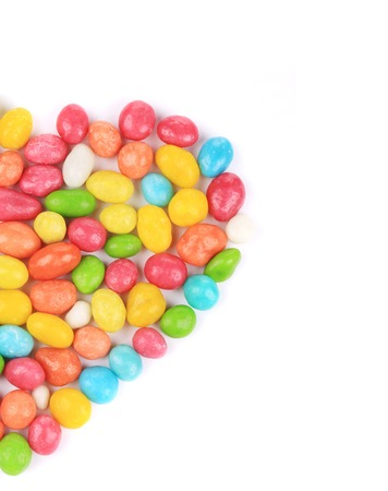 Colorful ball candies. Isolated on a white background. photo