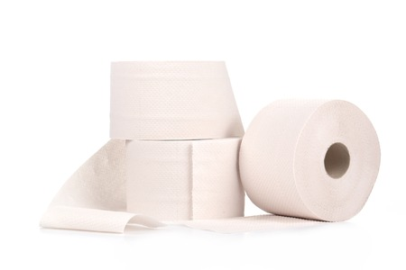 Rolls of toilet paper. Isolated on a white background. Stock Photo - 27005306