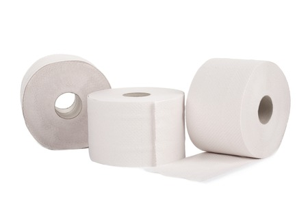 Rolls of toilet paper. Isolated on a white background. Stock Photo - 27005305