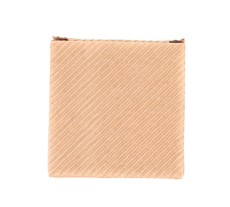 Cardboard box. Isolated on a white background. photo