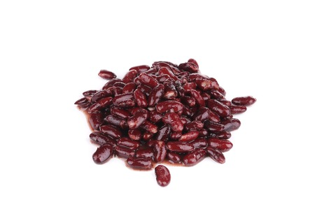 Canned red bean. Isolated on a white background. Stock Photo