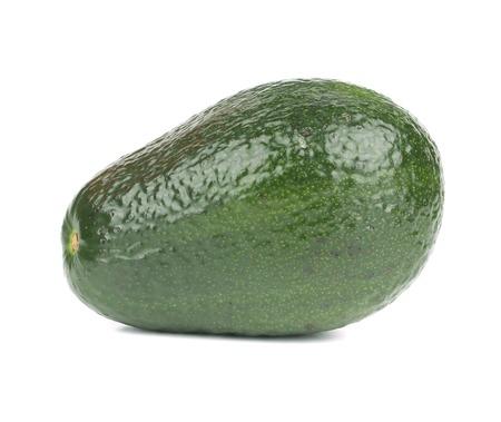 Close up of fresh avocado. Isolated on a white background. photo