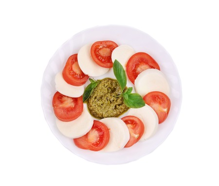 Caprese salad. Isolated on a white background. photo