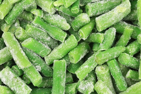 Frozen french beans. photo