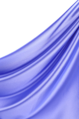 Blue silk drape. photo