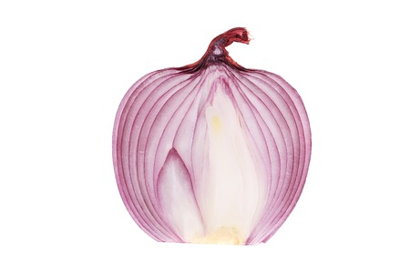 Ripe red onion. Isolated on a white background. photo