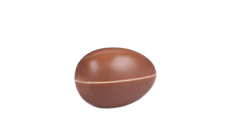 Chocolate egg on white background. Isolated on a white background. photo