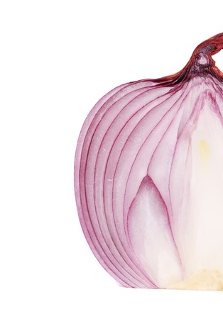 Red ripe onion. Isolated on a white background. photo