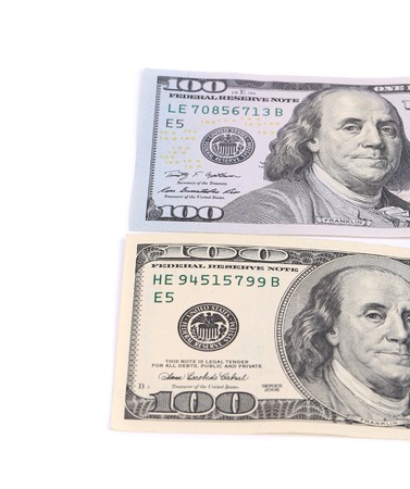 Two notes on hundred dollars.  photo