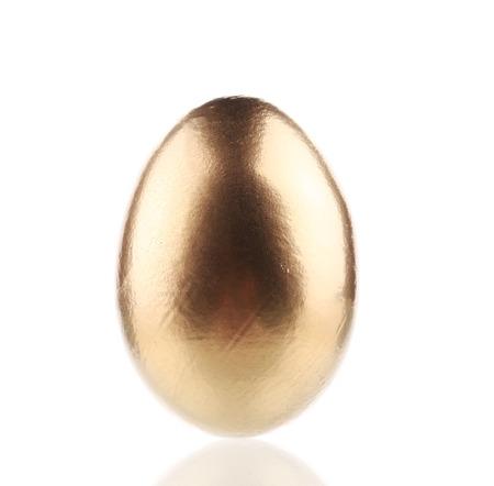Golden egg close up.  photo