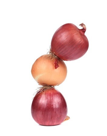 Three onions.  photo