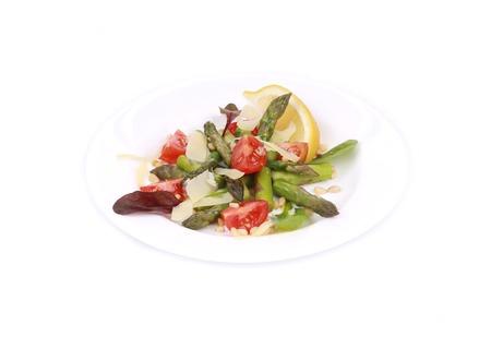 nutritiously: Fresh asparagus salad.  Stock Photo