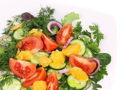 Close up of fresh salad.  photo