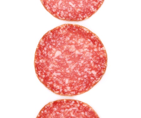 Slices of salami. photo