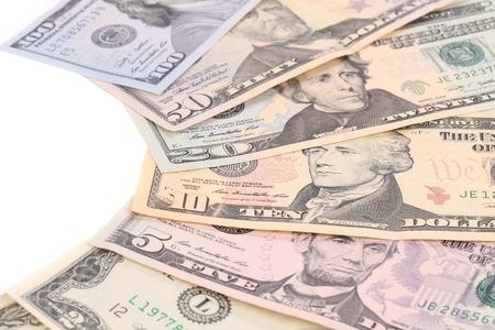 Heap of dollars.  Stock Photo