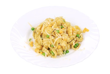 Tasty �oquis pasta italiana con queso parmesano. photo