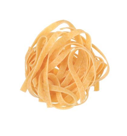 Tagliatelle paglia italian pasta.  photo