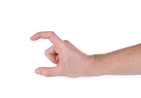 Finger holding. Stock Photo - 28112092